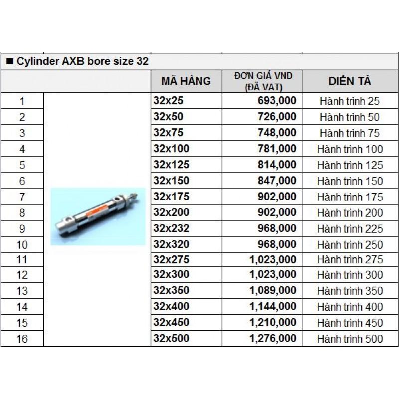 Xy lanh khí TPC AXB bore size 32